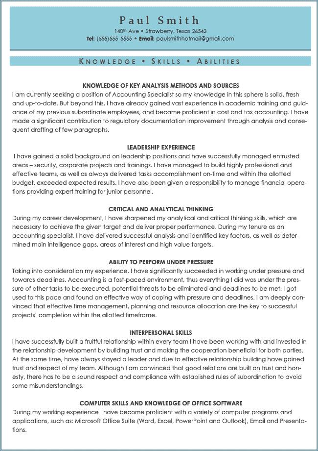 resume samples for free
